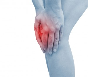 Acute pain in a woman knee