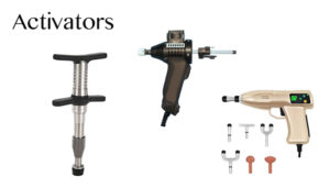 image of activators of various types for chiropractic adjustment